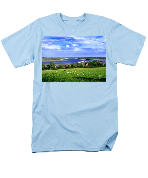 Men's T-Shirt  (Regular Fit) featuring the photograph Dundrum Bay Irish Coastal Scene by Nina Ficur Feenan