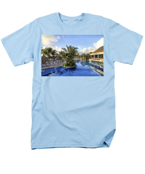 Early Morning At The Pool Men's T-Shirt  (Regular Fit) by Teresa Zieba