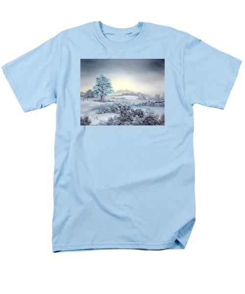 Early Morning Snows Men's T-Shirt  (Regular Fit) by Jean Walker