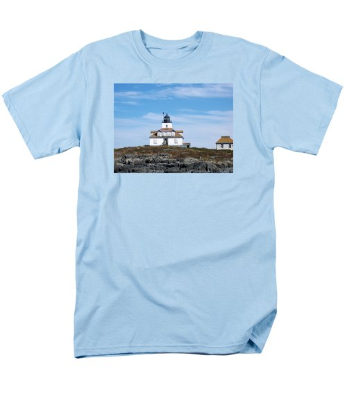 Egg Rock Lighthouse Men's T-Shirt  (Regular Fit) by Catherine Gagne