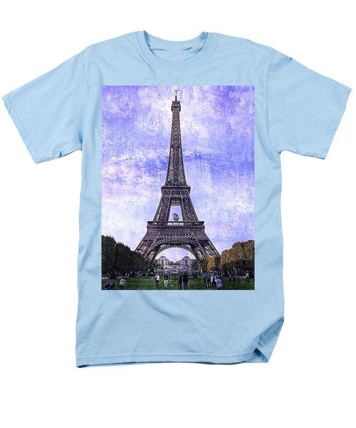 Men's T-Shirt  (Regular Fit) featuring the photograph Eiffel Tower Paris by Kathy Churchman