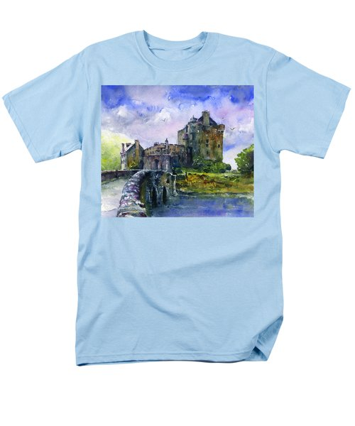 Eilean Donan Castle Scotland Men's T-Shirt  (Regular Fit) by John D Benson