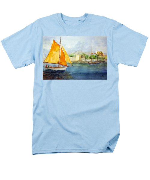 Entering The Port - Foca Izmir Men's T-Shirt  (Regular Fit) by Faruk Koksal