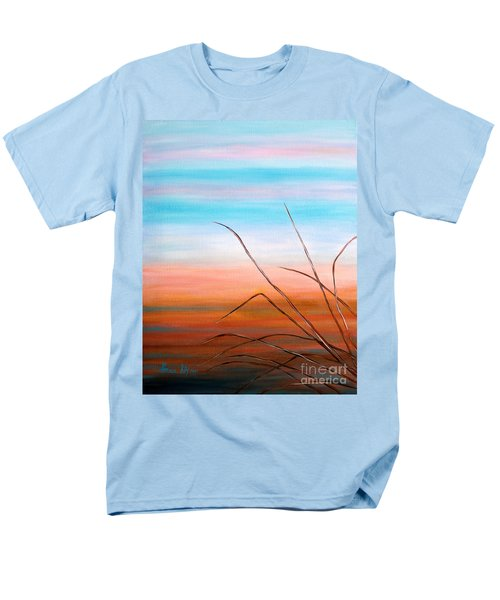 Men's T-Shirt  (Regular Fit) featuring the painting Evening Sky. Soul Collection by Oksana Semenchenko
