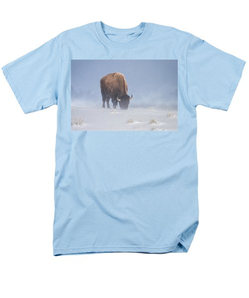 Men's T-Shirt  (Regular Fit) featuring the photograph Faces The Blizzard by Jack Bell