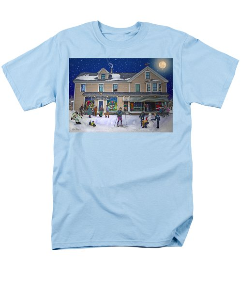 Faddens General Store In North Woodstock Nh Men's T-Shirt  (Regular Fit) by Nancy Griswold