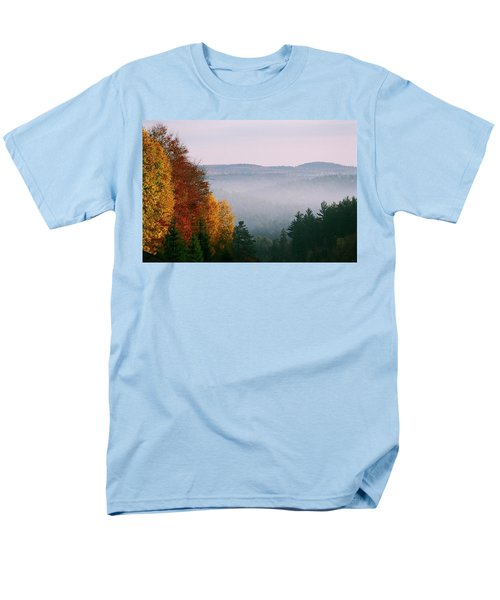 Fall Morning Men's T-Shirt  (Regular Fit) by David Porteus