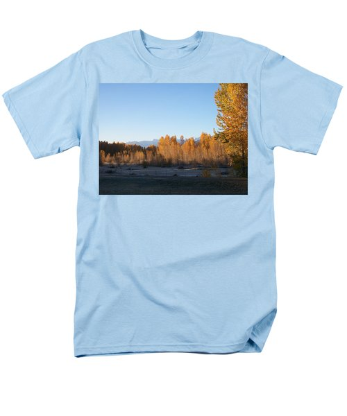 Men's T-Shirt  (Regular Fit) featuring the photograph Fall On The River by Jewel Hengen