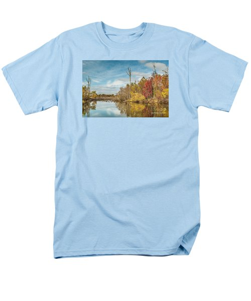 Men's T-Shirt  (Regular Fit) featuring the photograph Fall Pond by Debbie Green