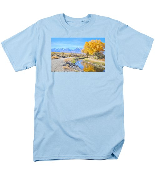 Fall Reflections Men's T-Shirt  (Regular Fit) by Marilyn Diaz