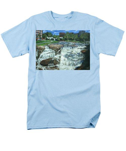 Men's T-Shirt  (Regular Fit) featuring the painting Falls River Park by Bryan Bustard