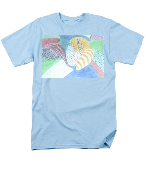 Men's T-Shirt  (Regular Fit) featuring the drawing Fantasy Of Egg And Cactus by Esther Newman-Cohen