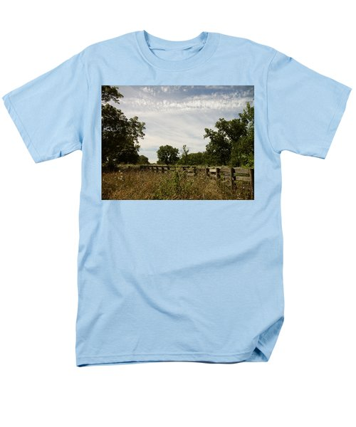 Men's T-Shirt  (Regular Fit) featuring the photograph Fence 2 by Cynthia Lassiter