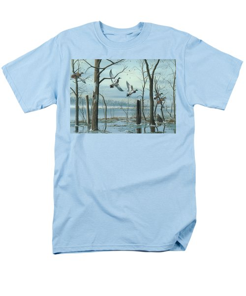 Men's T-Shirt  (Regular Fit) featuring the painting First Snow by Mike Brown