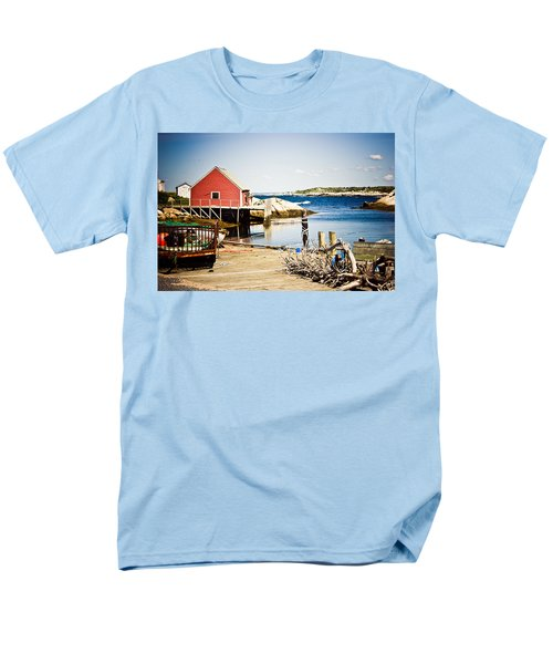Men's T-Shirt  (Regular Fit) featuring the photograph Fisherman's Cove by Sara Frank