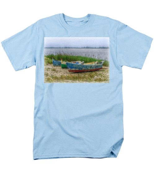 Men's T-Shirt  (Regular Fit) featuring the photograph Fishing Boats by Hanny Heim