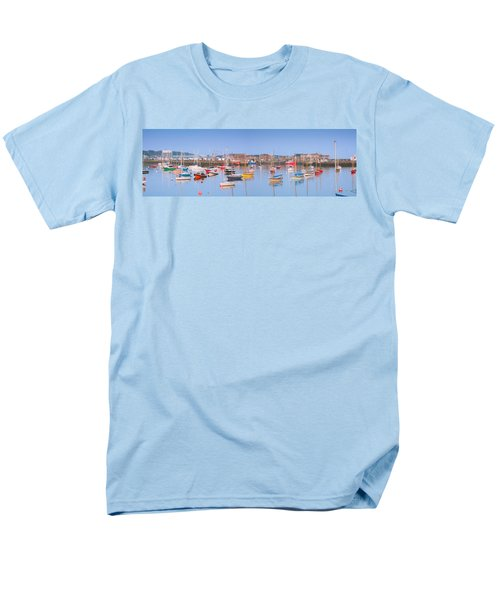 Fishing Boats In The Howth Marina Men's T-Shirt  (Regular Fit) by Semmick Photo