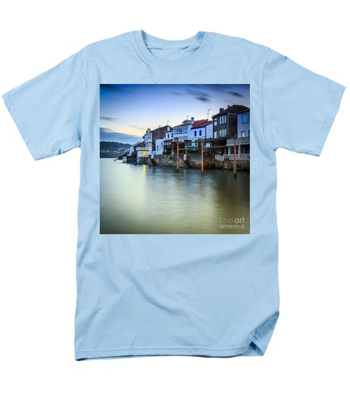Fishing Town Of Redes Galicia Spain Men's T-Shirt  (Regular Fit) by Pablo Avanzini