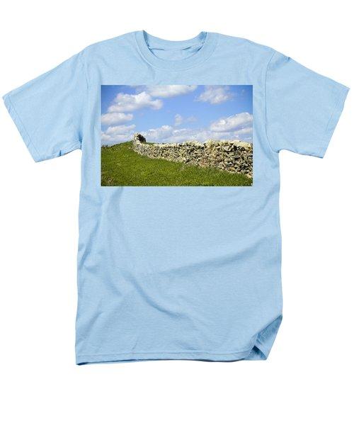 Men's T-Shirt  (Regular Fit) featuring the photograph Flint Hills Rock Fence by Steven Bateson