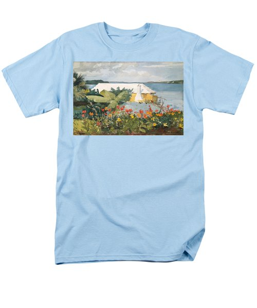 Flower Garden And Bungalow Men's T-Shirt  (Regular Fit) by Celestial Images