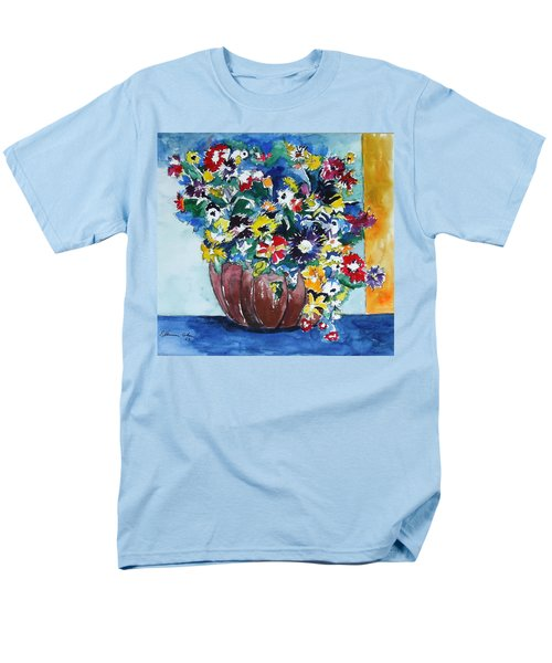Men's T-Shirt  (Regular Fit) featuring the painting Flower Jubilee by Esther Newman-Cohen