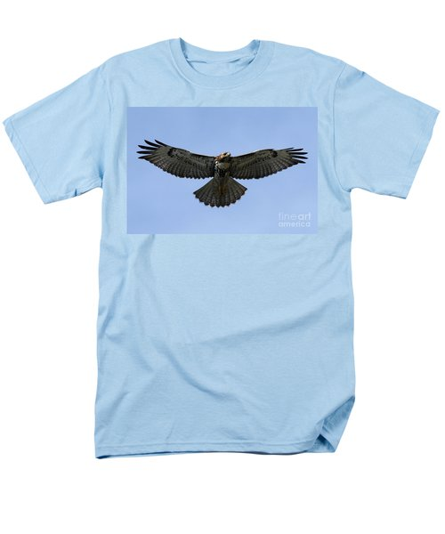Flying Free - Red-tailed Hawk Men's T-Shirt  (Regular Fit) by Meg Rousher
