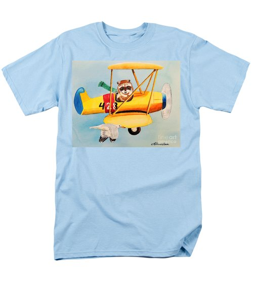 Men's T-Shirt  (Regular Fit) featuring the painting Flying Friends by LeAnne Sowa