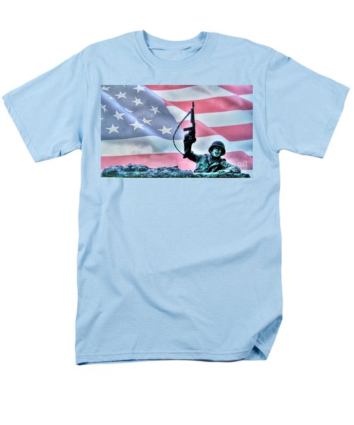 For Freedom Men's T-Shirt  (Regular Fit) by Dan Stone