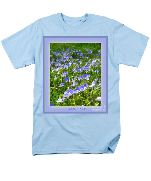 Forget Me Not Men's T-Shirt  (Regular Fit) by Leone Lund