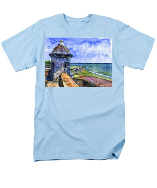 Fort San Juan Puerto Rico Men's T-Shirt  (Regular Fit) by John D Benson