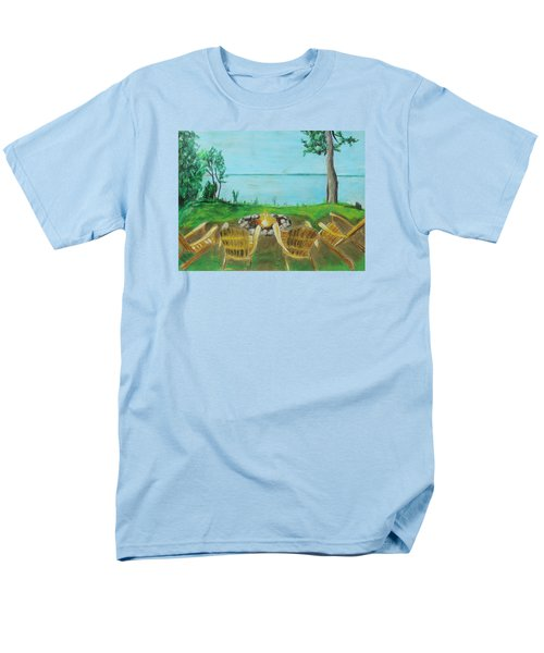 Men's T-Shirt  (Regular Fit) featuring the painting Four Chairs by Jeanne Fischer
