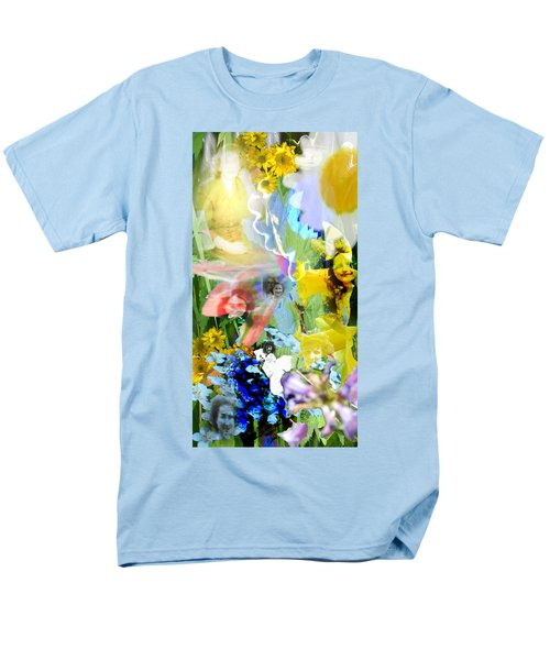 Men's T-Shirt  (Regular Fit) featuring the digital art Framed In Flowers by Cathy Anderson