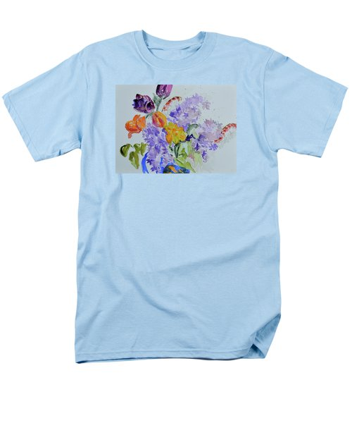 Men's T-Shirt  (Regular Fit) featuring the painting From Grammy's Garden by Beverley Harper Tinsley