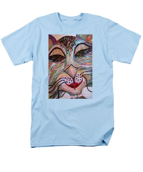 Men's T-Shirt  (Regular Fit) featuring the painting Funky Feline  by Eloise Schneider