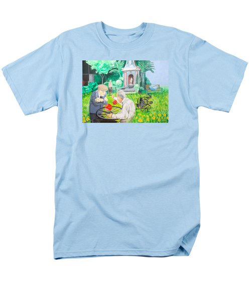 Men's T-Shirt  (Regular Fit) featuring the painting Gambling Grandma  by Lazaro Hurtado
