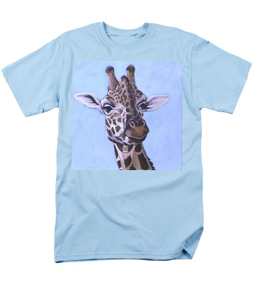 Men's T-Shirt  (Regular Fit) featuring the painting Giraffe Eye To Eye by Penny Birch-Williams