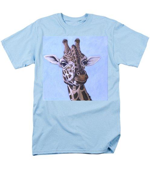 Giraffe Eye To Eye Men's T-Shirt  (Regular Fit) by Penny Birch-Williams