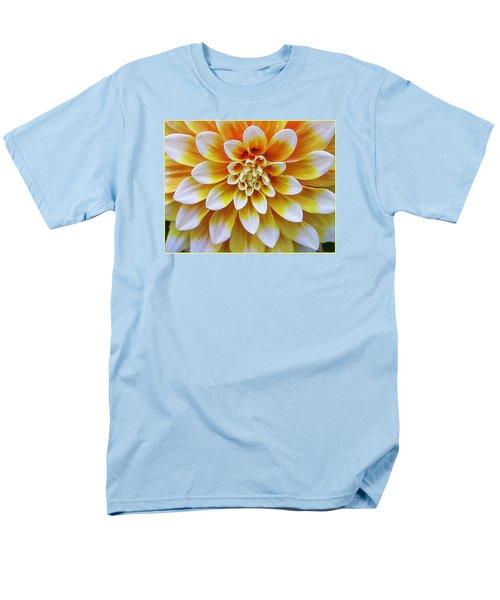 Glowing Dahlia Men's T-Shirt  (Regular Fit) by Dora Sofia Caputo Photographic Art and Design
