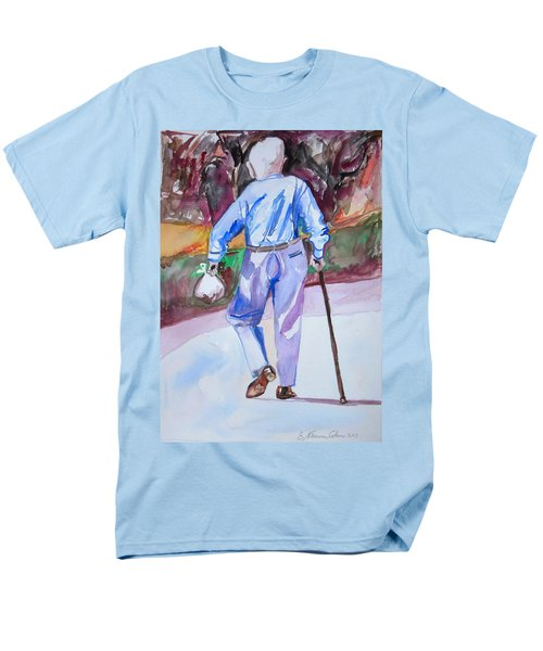 Men's T-Shirt  (Regular Fit) featuring the painting Going Home by Esther Newman-Cohen