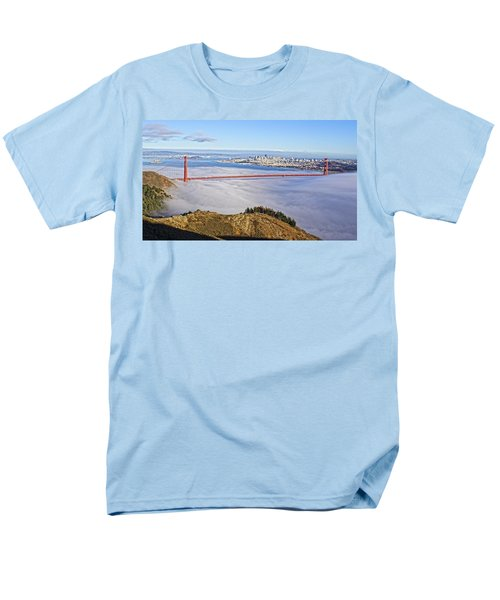 Golden Gate Men's T-Shirt  (Regular Fit) by Dave Files