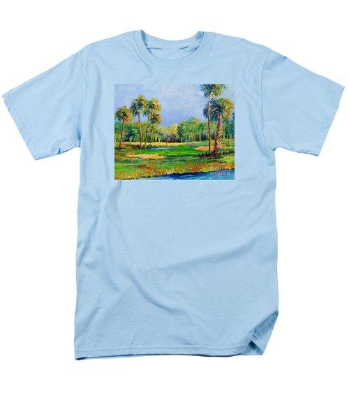 Golf In The Tropics Men's T-Shirt  (Regular Fit) by Lou Ann Bagnall