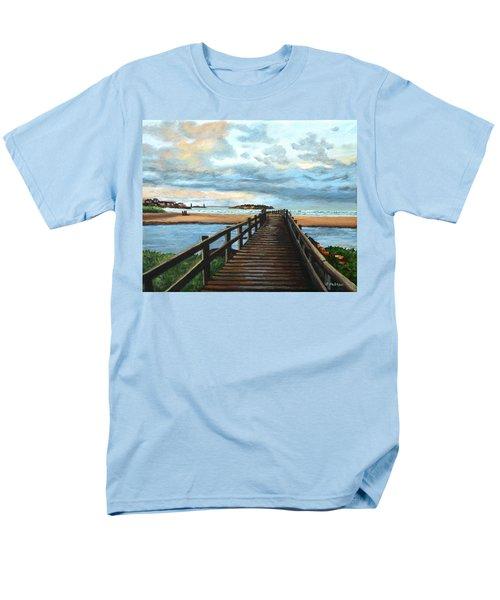 Good Harbor Beach Gloucester Men's T-Shirt  (Regular Fit) by Eileen Patten Oliver