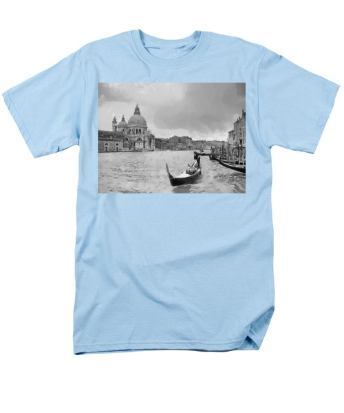 Men's T-Shirt  (Regular Fit) featuring the painting Grand Canal Venice Italy by Georgi Dimitrov