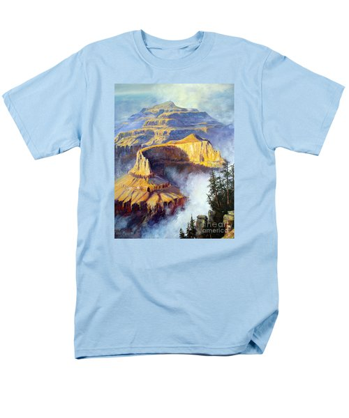 Men's T-Shirt  (Regular Fit) featuring the painting Grand Canyon View by Lee Piper