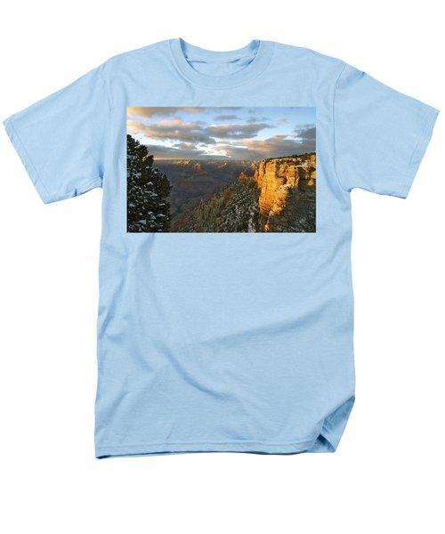 Grand Canyon. Winter Sunset Men's T-Shirt  (Regular Fit) by Ben and Raisa Gertsberg