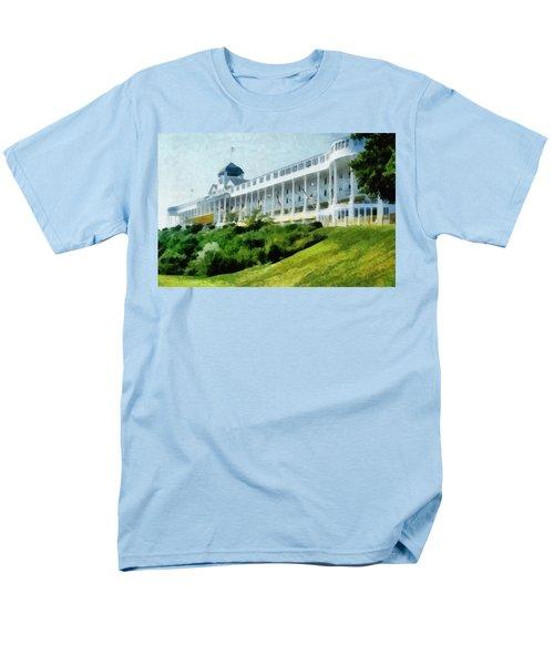 Grand Hotel Mackinac Island Ll Men's T-Shirt  (Regular Fit) by Michelle Calkins