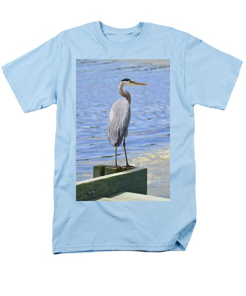 Great Blue Heron Men's T-Shirt  (Regular Fit) by Judith Morris