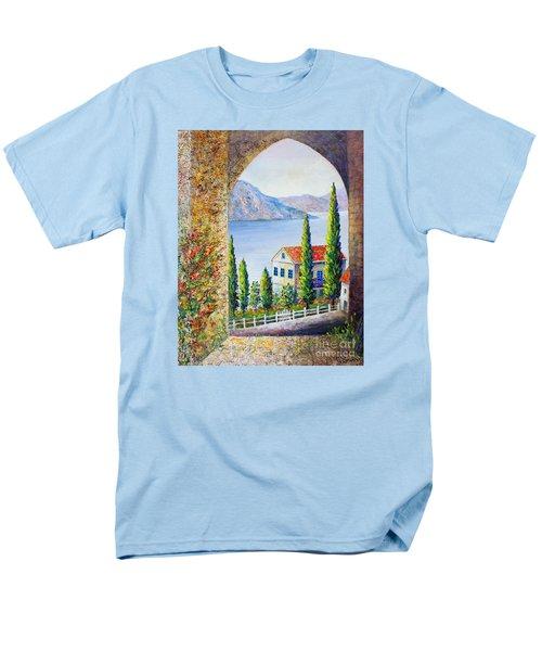 Greek Arch Vista Men's T-Shirt  (Regular Fit) by Lou Ann Bagnall