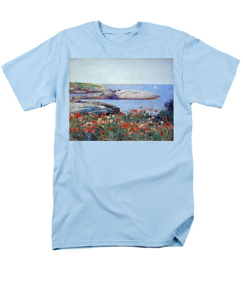 Hassam's Poppies On The Isles Of Shoals Men's T-Shirt  (Regular Fit)