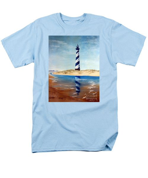 Men's T-Shirt  (Regular Fit) featuring the painting Hatteras Lighthouse by Lee Piper